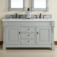 Brookfield 60 Double Urban Gray Bathroom Vanity Set by James Martin Furniture