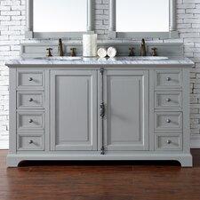 Providence 60 Double Urban Gray Bathroom Vanity Set by James Martin Furniture