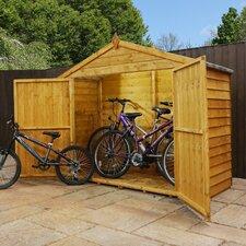 7 x 3 Wooden Overlap Apex Bike Shed