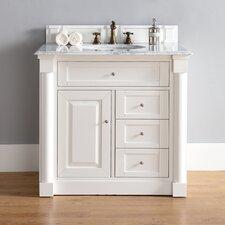 New Haven 36 Single Cottage White Bathroom Vanity Set by James Martin Furniture
