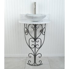 Monterrey Fong 22 Pedestal Bathroom Sink by D'Vontz