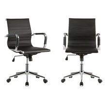 Ergonomic Ribbed High Back 16.64 Mesh Desk Chair (Set of 2) by Attraction Design Home