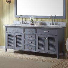 Griffith 73 Double Bathroom Vanity with Mirror by Beachcrest Home