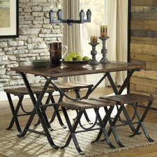 Jaden 5 Piece Dining Set by Loon Peak