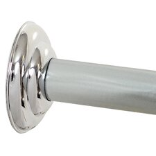 "Screw 72"" Adjustable Straight Fixed Shower Curtain Rod"