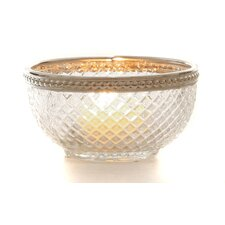 3-tlg. Kerzenschalen-Set aus Glas