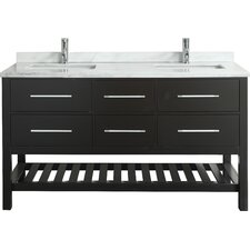 "Natalie® 60"" Double Bathroom Vanity Set"
