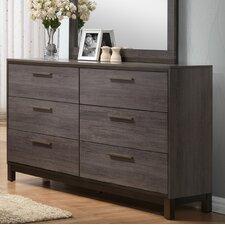 Mandy Wood 9 Drawer Double Dresser