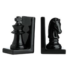 2 Piece Chess Bookend Set