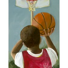 Lil' Basketball Star 1 by Kristina Bass Bailey Paper Print