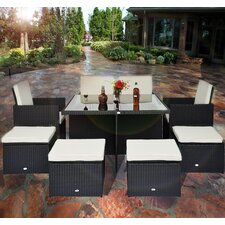 Outsunny 8 Seater Dining Set with Cushions