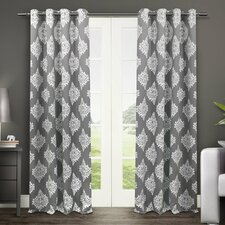 Fletcher Damask Blackout Thermal Grommet Curtain Panels (Set of 2)