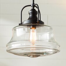 Nadine 1-Light Schoolhouse Pendant