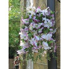 Outdoor Artificial Flowering Plant in Basket