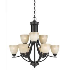 Finn 9-Light Metal Shaded Chandelier