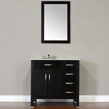 Hudson 36 Single Contemporary Bathroom Vanity Set by Alya Bath