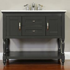 Hampton 42 Single Contemporary Bathroom Vanity Set by Alya Bath