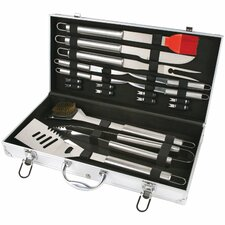 Stainless Steel 19-Piece BBQ Grilling Tool Set