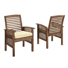 Widmer Dining Arm Chair with Cushion (Set of 2)