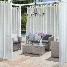 Allegra Striped Sheer Single Curtain Panel