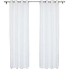 Arrey Solid Semi-Sheer Grommet Curtain Panel (Set of 2)