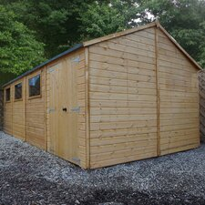 20 Ft. W x 10 Ft. D Wooden Storage Shed