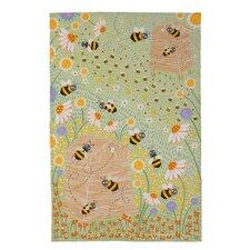 Daisy Bees Linen Tea Towel