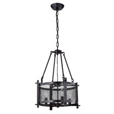 Aludra Metal Mesh 4-Light Drum Chandelier