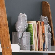 Owl on Book Bookends (Set of 2)