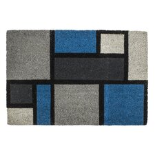 Sweet Home Colour Blocks Non Slip Coir Doormat