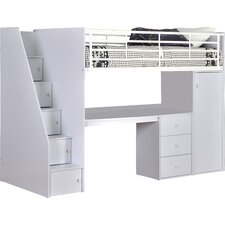 Dakota Single High Sleeper Bed with Workstation