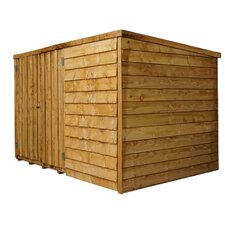 Overlap Pent 6 Ft. W x 4 Ft. D Wooden Bike Shed