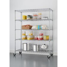 "NSF Extra Large Commercial Grade 77"" H 5 Shelf Shelving Unit"