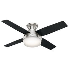 "44"" Dempsey Low Profile 4-Blade Ceiling Fan with Remote"