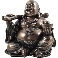 Figur Happy Buddha Holding Golden Nugget