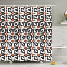 Modern Art Home Retro Minimalist Concentric Spiral Vortex Graphic Art Work Shower Curtain Set