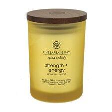 Mind & Body Strength and Energy Pineapple Coconut Jar Candle