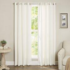 Tamara Solid Room Darkening Grommet Curtain Panels (Set of 2)