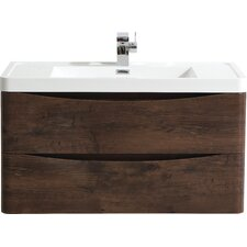89cm Wall Mounted Vanity Unit