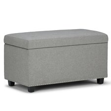 Hannah Upholstered Storage Ottoman by Simpli Home