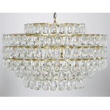 Linden Metal 4-Light Crystal Chandelier