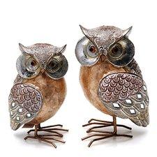 2-tlg. Figuren-Set Owl