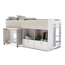 European Single Mid Sleeper Bed with Storage