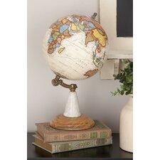 Wood Metal Marble Globe