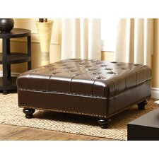 Connelly Leather Cocktail Ottoman