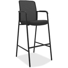 Armed Cafe Height Mesh Desk Chair by Basyx by HON