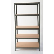 Heavy Duty Steel 180cm 5 Shelf Shelving Unit