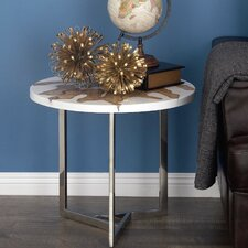 Aluminum/Teak End Table by Cole & Grey