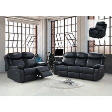 Whitney Leather 3+2 Sofa Set