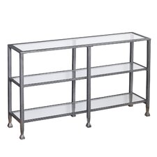 Kailani Metal/Glass 3-Tier Console Table/Media Stand - Silver